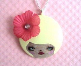 Delores Doll face Necklace