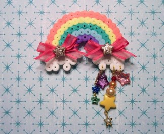 over the rainbow brooch
