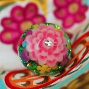 acrylic resin lotus ring
