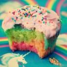 kawaii pastel rainbow cupcake