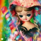 pose doll with lollipop