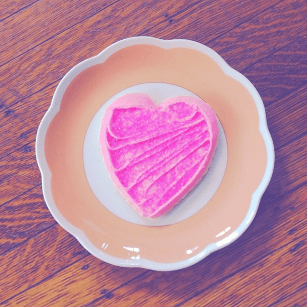 my pink cookie heart