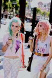 Audrey Kitching and Kerli in Bolts & Eye Florals