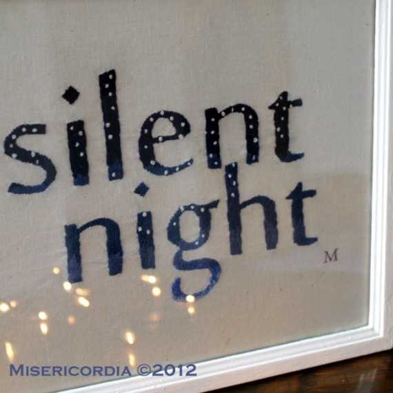 Silent Night hand embroidery - Misericordia 2012