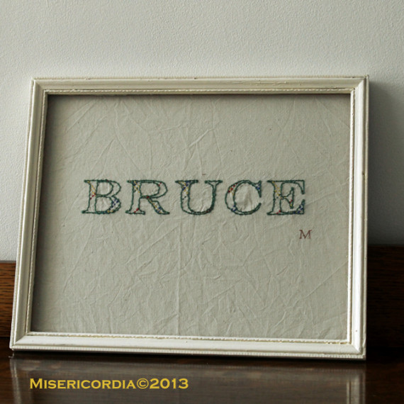 Bruce - Hand Embroidery Commission by Misericordia, 2013
