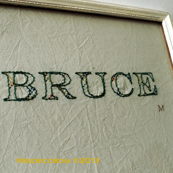 Bruce - Hand Embroidery Comissoin by Misericordia 2013