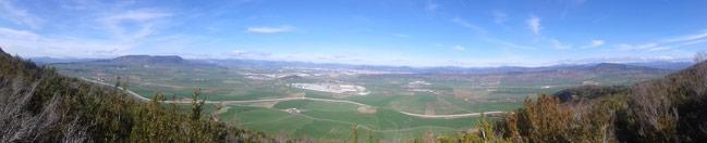 Panorámica desde el Alto de la Cruz en la sierra de Alaiz ©Txani
