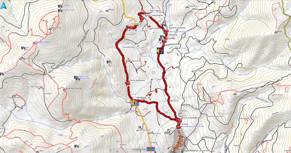 Mapa del recorrido 569