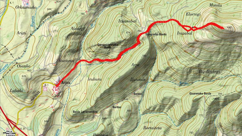 Mapa del recorrido 589