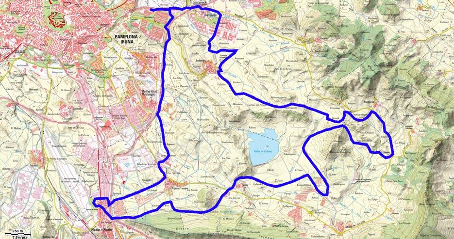 Mapa del recorrido 203BTT