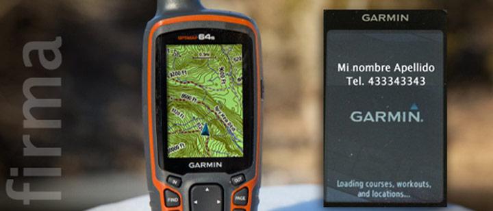 Mensaje bienvenida de un GPS Garmin