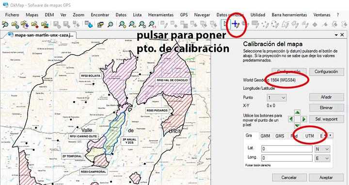 Calibrar mapa con Okmap1