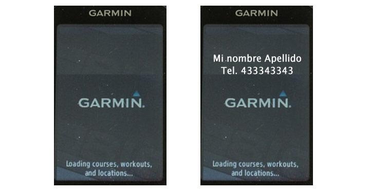 Firma personalizada en un Garmin