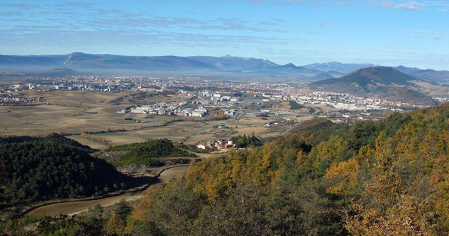 Cuenca de Pamplona desde la Sierra de Ardanaz