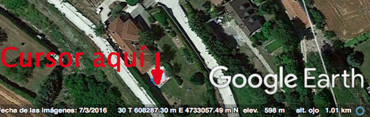 Coordenadas en Google Earth