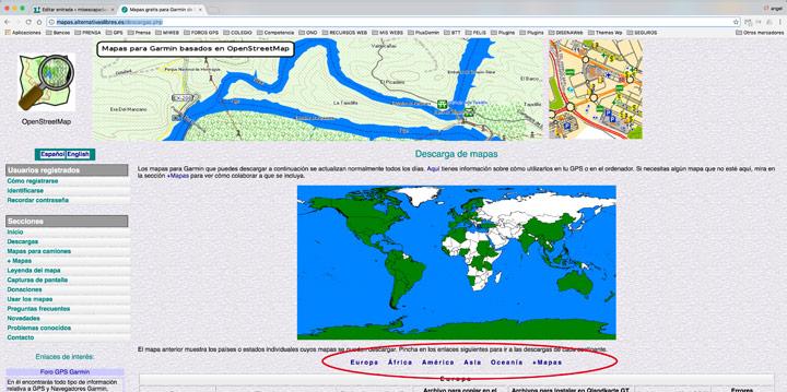 Descargar mapas OSM por continentes