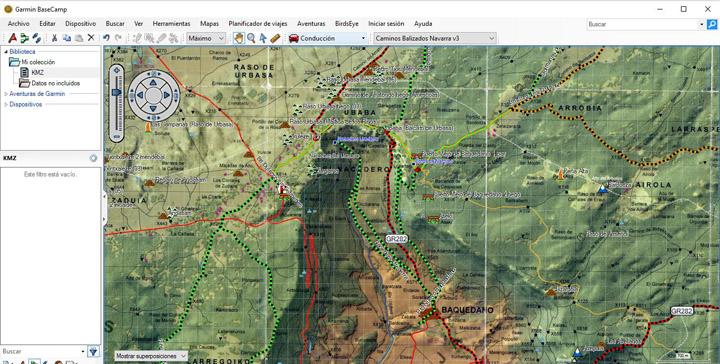 Mapas vectoriales sobre mapas KMZ en Basecamp
