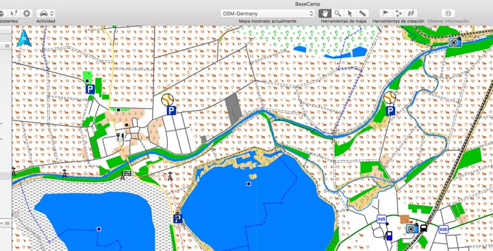 Mapa OSM Germany en Basecamp de Mac