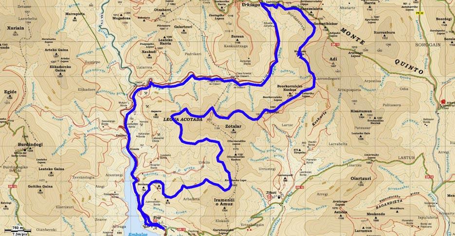 Mapa del recorrido 209BTT