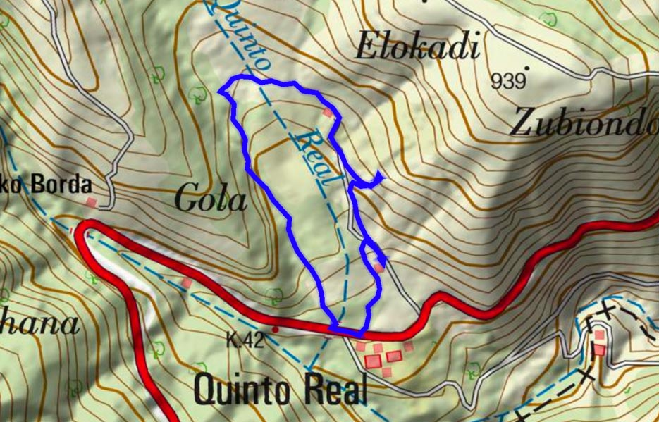 Mapa del recorrido 633