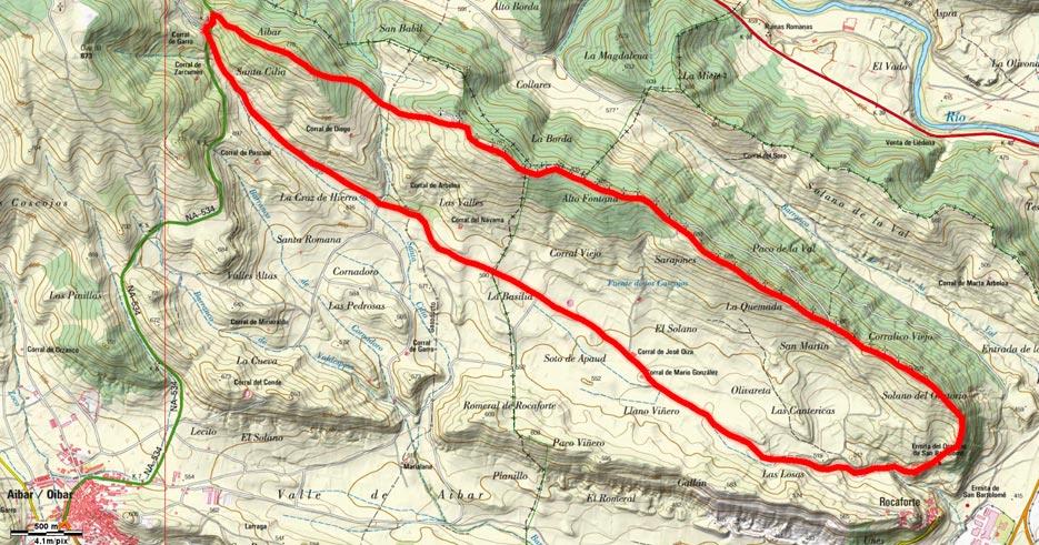 Mapa del recorrido 644