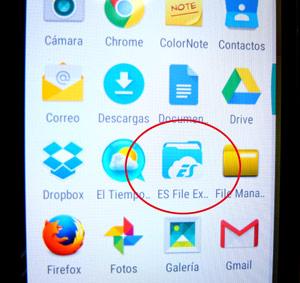 Arrancar ES File Explorer