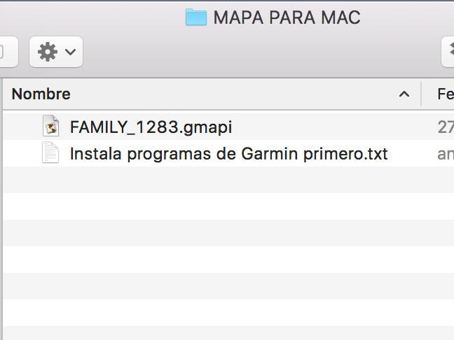 Autoinstalador .gmapi para una mapa Garmin en Mac