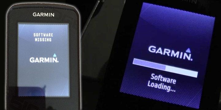 Mensaje Sofware Missing en Garmin