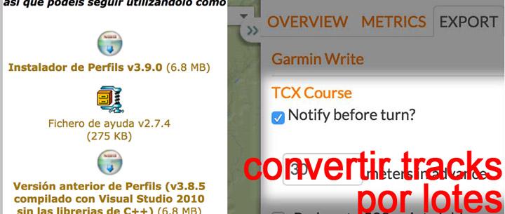 Convertir colecciones de tracks a GPX