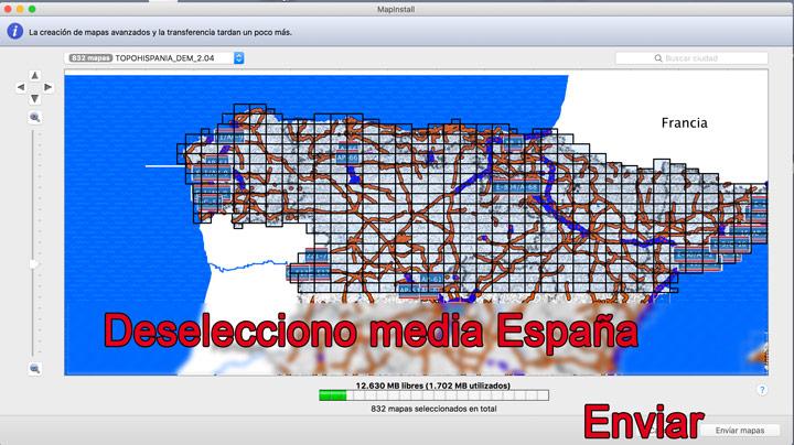 Deseleccionar mapas con Mapinstall