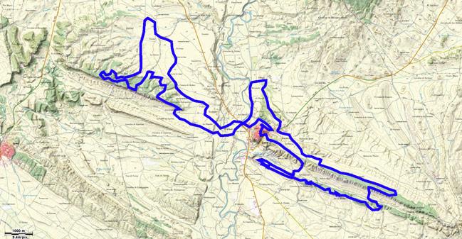 Mapa del recorrido 219BTT