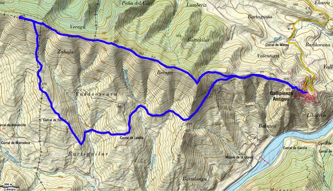 Mapa del recorrido 704