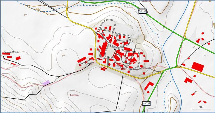 Mapa TopoEH con el typ ligeramente cambiado en senderos y edificios