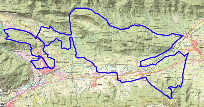 Mapa del recorrido 223BTT