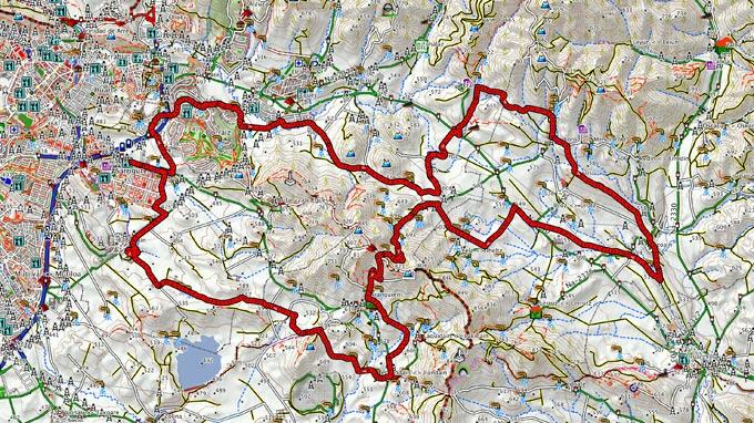 Mapa del recorrido 225BTT