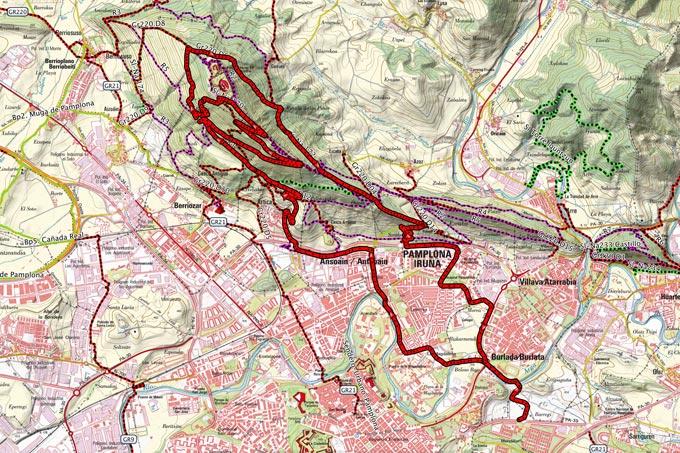 Mapa de la ruta 233BTT