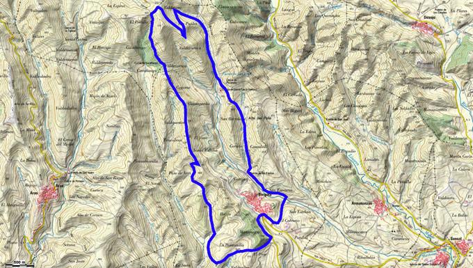 Mapa del recorrido 729
