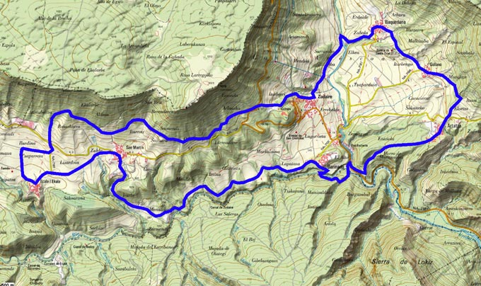 Mapa del recorrido 760