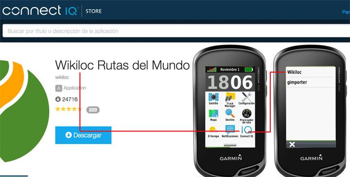 Conectar un Garmin a un móvil con IQ Wikiloc
