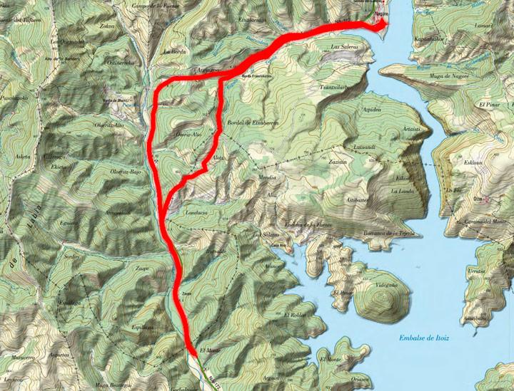 Mapa del recorrido 782
