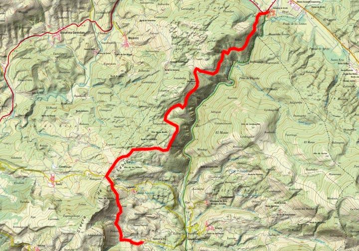 Mapa del recorrido 784