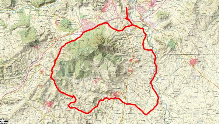 Mapa del recorrido 244BTT