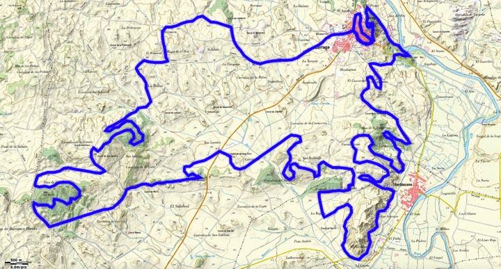 Mapa del recorrido 259BTT