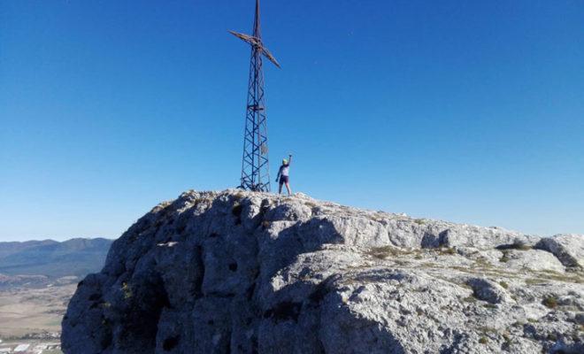 Cruz de Mirutegi- Araba sierra de Entzia
