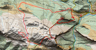 Mapa de Ezkaurre