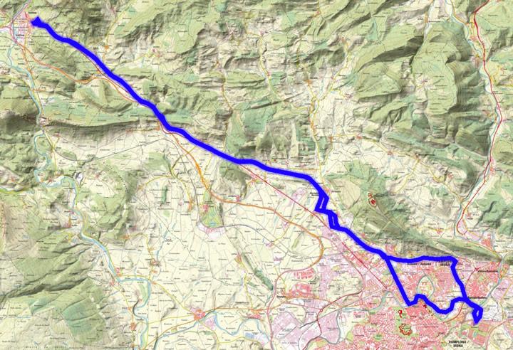Mapa del recorrido 281BTT