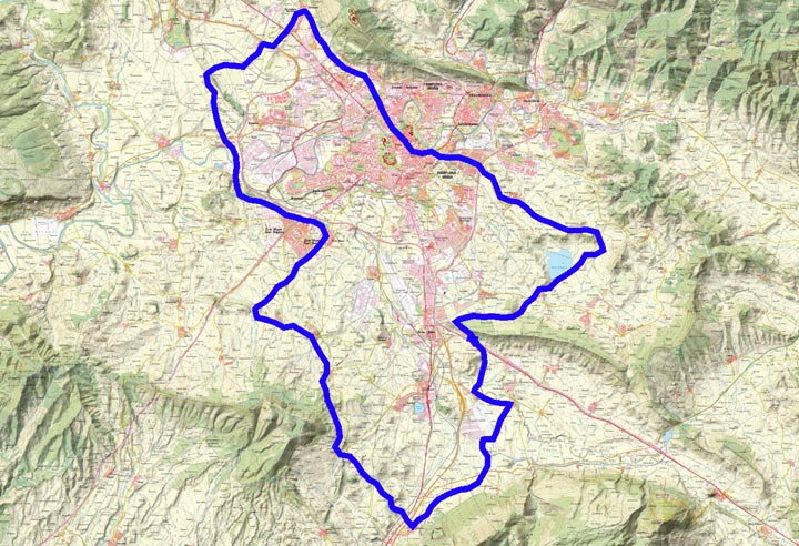 Mapa del recorrido 285BTT