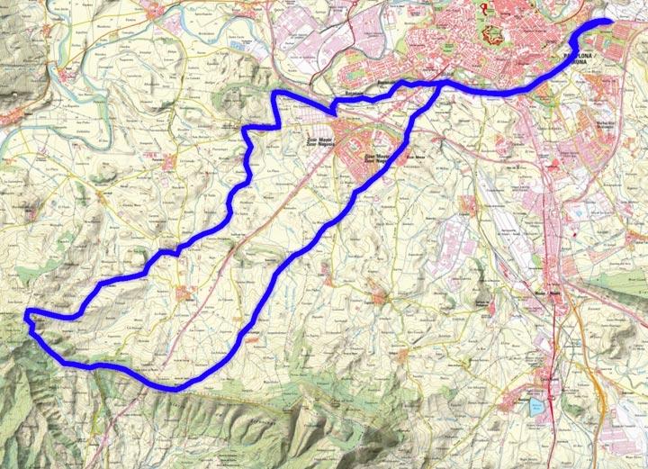 Mapa del recorrido 288BTT