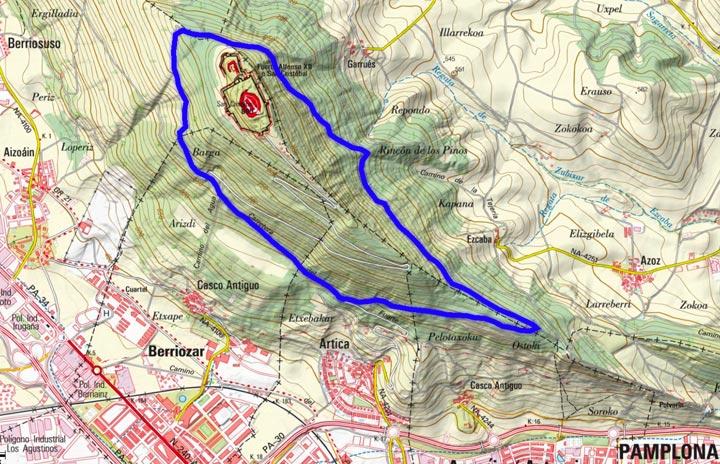 Mapa del recorrido 855