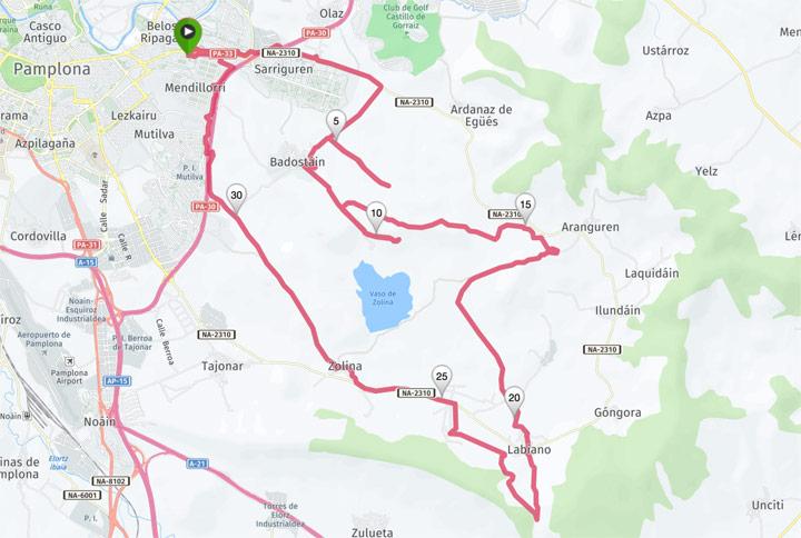 Mapa del recorrido 291BTT